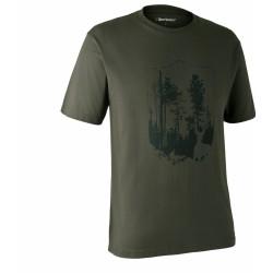 Футболка DeerHunter T-Shirt with Shield (378 Bark green)