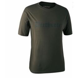 Футболка DeerHunter Logo T-Shirt  (378 Bark green)