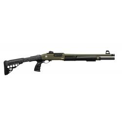 Ружье гладкоствольное Huglu 7+1 ATROX Tactic Khaki Telescopic Stock 12/46 см