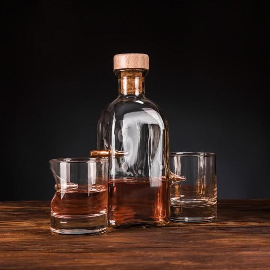 Набор 3 стакана для виски и графин