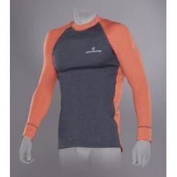 Футболка Tramp Outdoor Tracking Man с длинным рукавом мужская серый/оранжевый