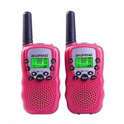 Комплект раций Baofeng BF-T3 (UHF) 3W. (розовые.)