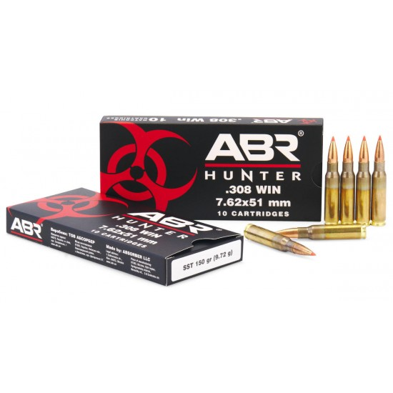 Патроны ABR Hunter 308win (7,62x51мм) пуля А-Max 168gr.(10.89g)