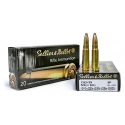 Патрон Sellier & Bellot кал. 7,62x39 пуля SP масса 8,0 грамм/ 123 гр